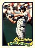 1989 Topps Traded Baseball Rookie Card #122T Omar Vizquel Mint