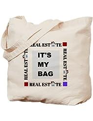 IrmaPetty Real Estate It's My Bag - Natural Canvas Tote Bag, Cloth Shopping Bag
