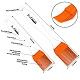 mKitchen Orange Silicone Basting Pastry Oil Brush Set of 2 - 2 Recipe eBooks - Good for Grilling Marinating Turkey Baster and Barbecue Utensil - Desserts Baking