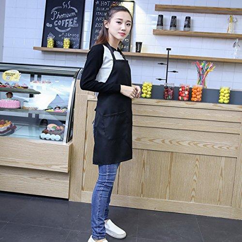 Kitchen Restaurant Negro bolsillos Bistro con Ahatech Apron dqxHdz