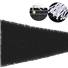 4x50' 4ft Tall Black Privacy Fence Screen Mesh Windscreen Fabric Slat Fencing Shade Cover Garden Patio