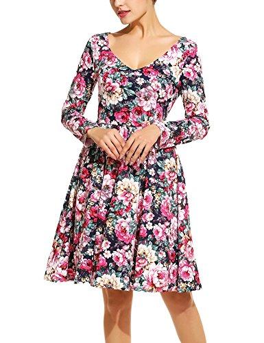ANGVNS Women Elegant Floral Sleeve