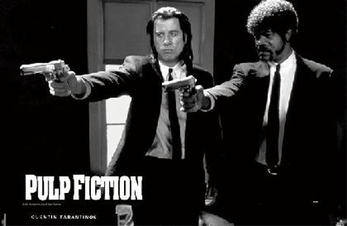 Laminated Pulp Fiction Uma Thurman Smoking Movie Sign Poster 12x18 inch