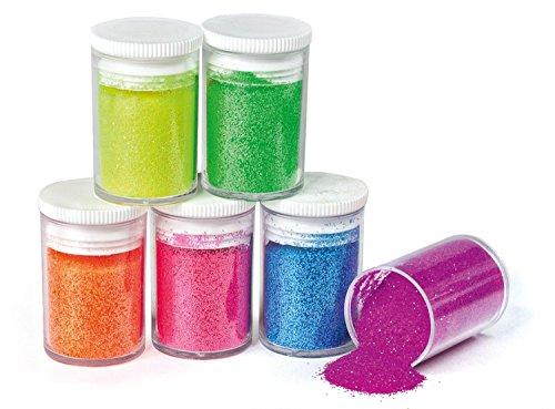 Glitter 6er-Set Neon