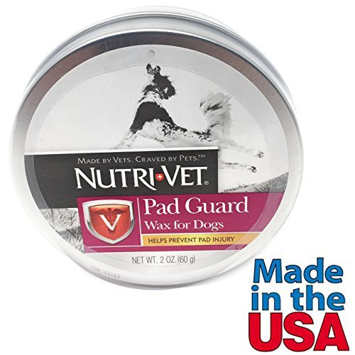 Dog Paw Wax Natural Paw Protection Helps Prevent Pad Injury from Nutri Vet 2 oz Made in USA by Nutri-Vet Pad Guard Wax