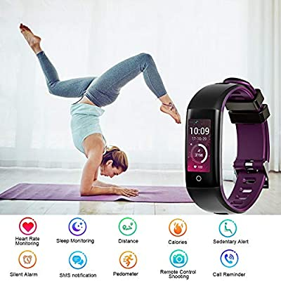 TEYO Fitness Tracker, Activity Tracker Watch with Heart Rate Blood Pressure Monitor (G16-PU)