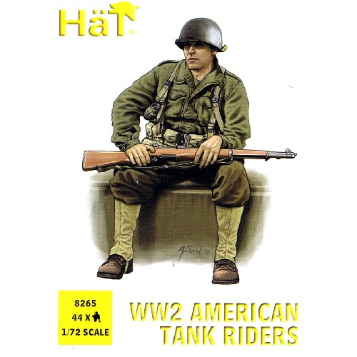 - HaT 1/72 WWII US Army American Infantry Tank Riders 44 Unpainted Plastic Toy Soldier Figures