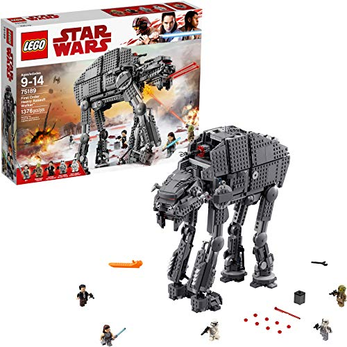 LEGO Star Wars Episode VIII First Order Heavy Assault Walker 75189 Building Kit (1,376 Pieces) (Lego Star Wars Robots Minifigures)