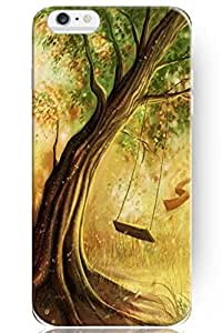 iPhone 6 Plus Case, PERFECT PATTERN Slim Case Cover for Apple iPhone 6 Plus (5.5 Inch screen) - LIFETIME WARRANTY - Swing under the Tree