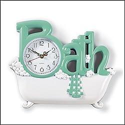 Bathroom Wall Clock, Green