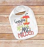 Baby Bib - Grandma Spoils Me Rotton - Baby Shower Present