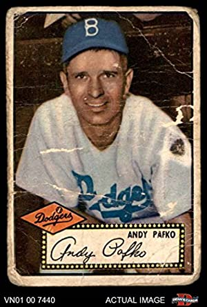 Amazoncom 1952 Topps 1 Andy Pafko Brooklyn Dodgers Baseball