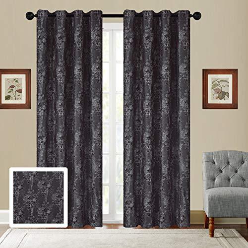 Sapphire Home 2 Grommet Jacquard Window Curtain Drape Panels 84
