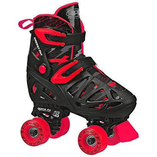 Pacer XT70 Adjustable Artistic Quad Roller Skates for Youth Children (black -