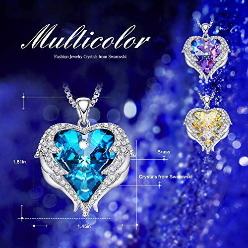 ea57c18e3 ... CDE Angel Wing Mothers Day Necklaces for Women Embellished with Crystals  from Swarovski Pendant Necklace Heart ...