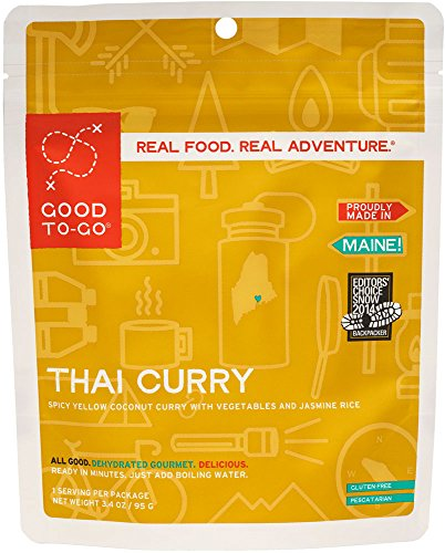 GOOD TO-GO Thai Curry - x Serving | Dehydrated Backpacking and Camping Food | Lightweight | Easy to Prepare (Single Serving)