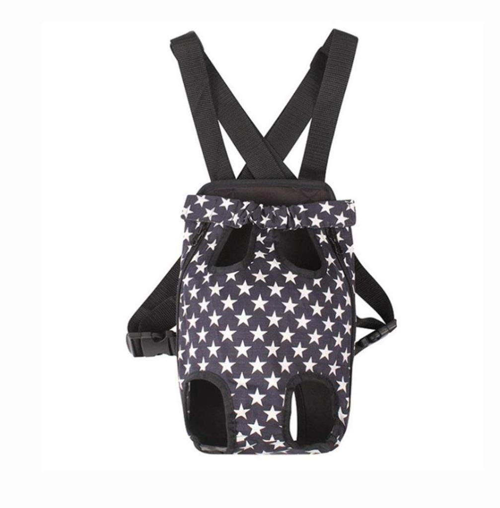 A Small A Small Pet Bag Pet Out Carrying Bag Fashion pet Chest Backpack Shoulder Chest Back wuJIAN (color   A, Size   S)