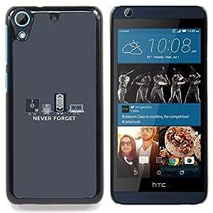 For HTC Desire 626 & 626s - Never Forget Old Technology - Funny Vhs /Modelo de la piel protectora de la cubierta del caso/ - Super Marley Shop -