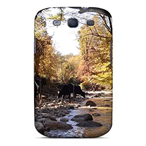 For Galaxy Case, High Quality Creek With Cows For Galaxy S3 Cover Cases