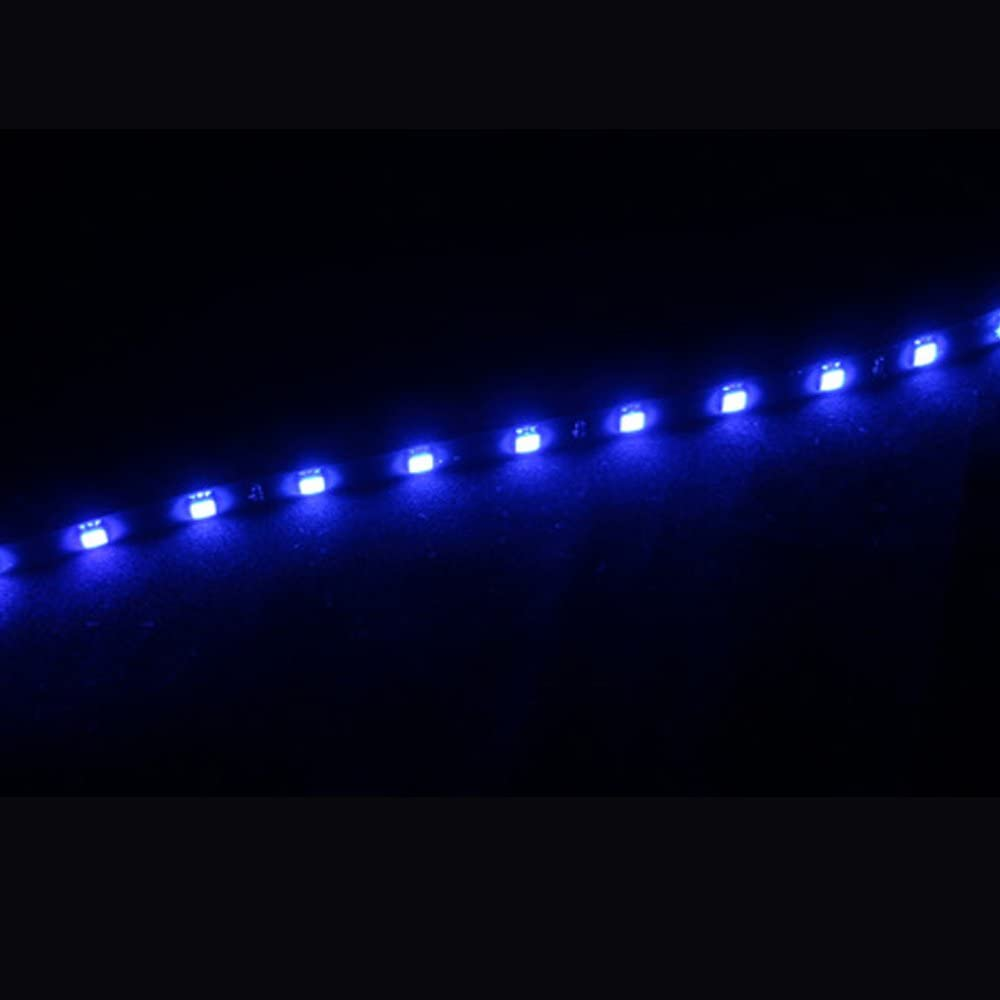 Mintice/™ 2 X White 12V 15 Led 30cm Car Auto Vehicle Grille Flexible Waterproof Underbody Light Strip