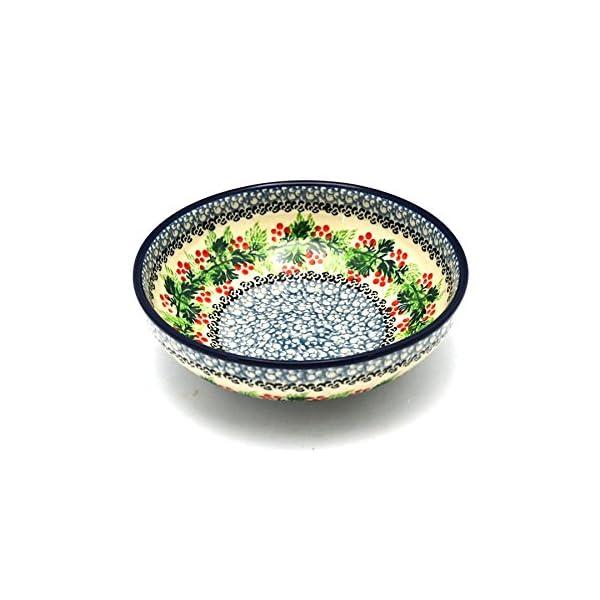 Polish Pottery Bowl – Contemporary Salad – Holly Berry