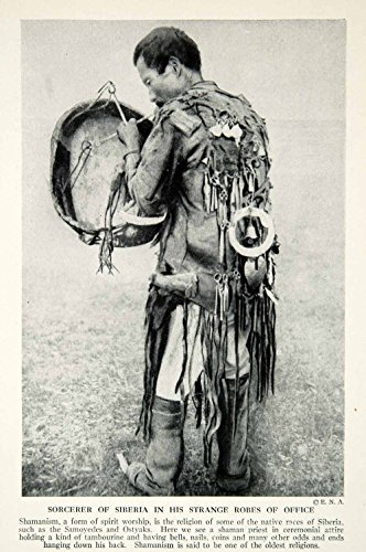 Russian Native Costume (1938 Print Shamanism Sorcerer Russian Native Religion Costume Traditional XGGD4 - Original Halftone Print)