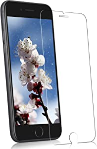 Glass Screen Protector Compatible with iPhone SE 2020 2nd Generation, Tempered Glass Film for iPhone 8,7,6s,6, (4.7 Inch) Clear 9H Hardnes Bubble-Free Anti Scratch