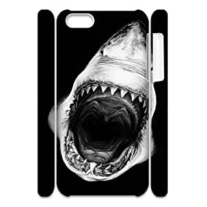 Cell phone 3D Bumper Plastic Case Of Deep Sea Shark For iPhone 5C