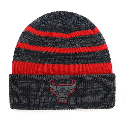 - OTS NBA Chicago Bulls Male Line Cuff Knit Cap, Black, One Size