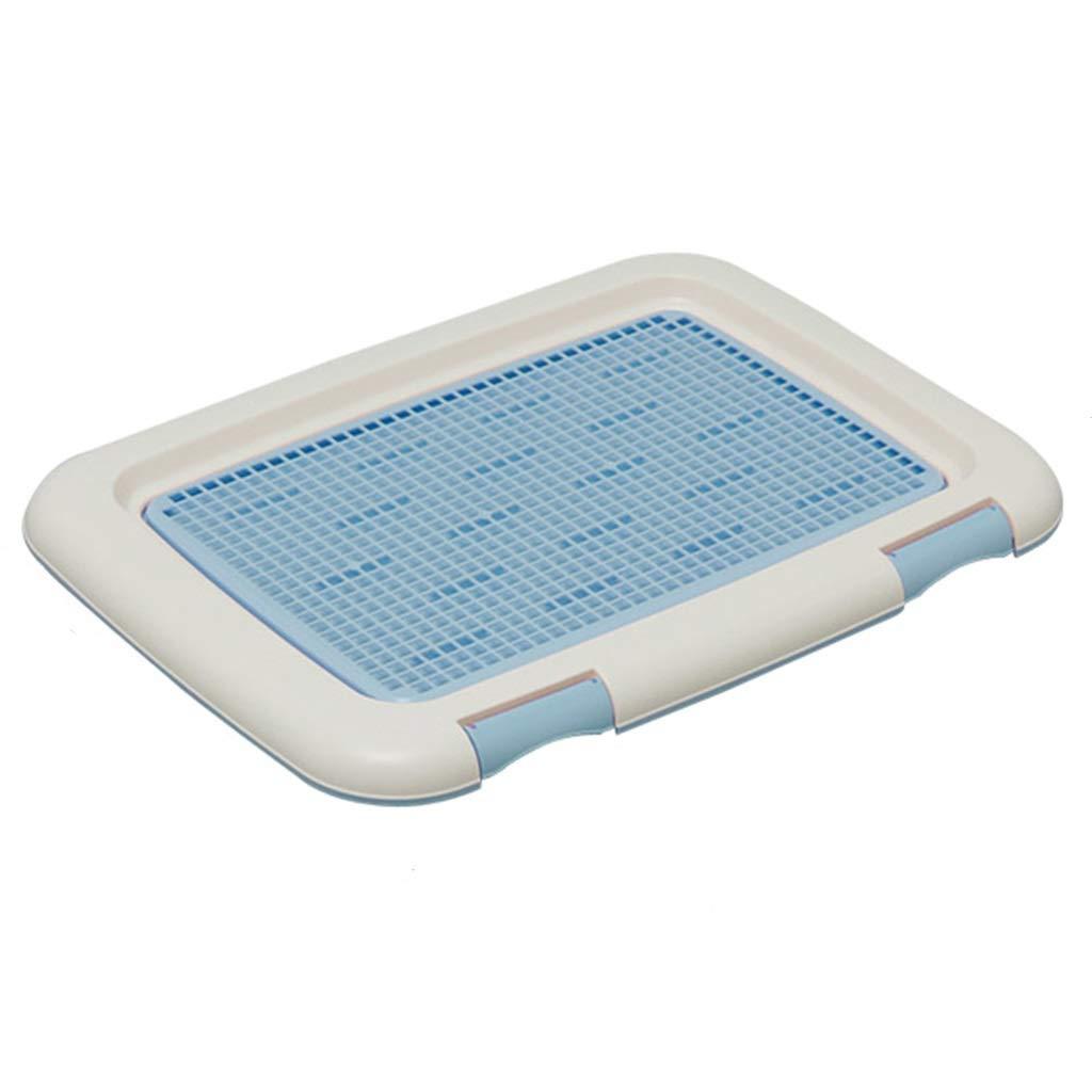 bluee 49633.5cm bluee 49633.5cm Litter Boxes Pet Toilet Dog Urinal Potty Plastic Small Dog Detachable Pet Supplies bluee 36.5cm Grid Gift (color   bluee, Size   49  63  3.5cm)