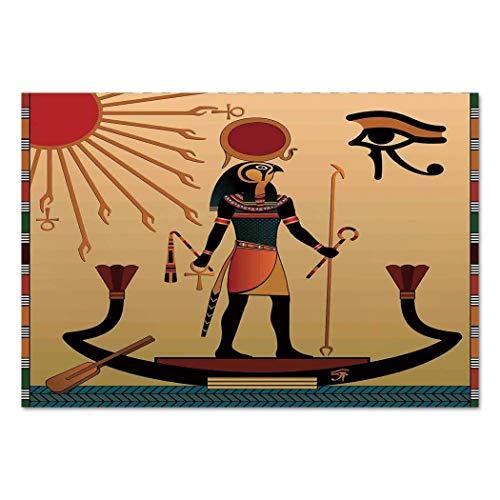 VAMIX Sticker [ Egyptian,Ancient Figure Sun Old Egyptian Religion Grace Icons Tradition Illustration Print Decorative,Multicolor ] Self-Adhesive Vinyl Wallpaper/Removable Modern -