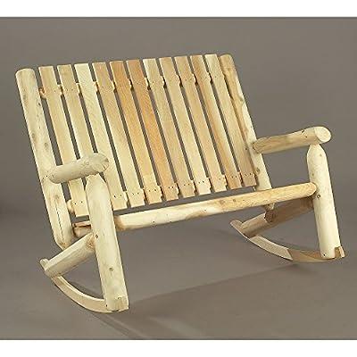 Rustic Natural Cedar Furniture High Back Double Seat Rocker