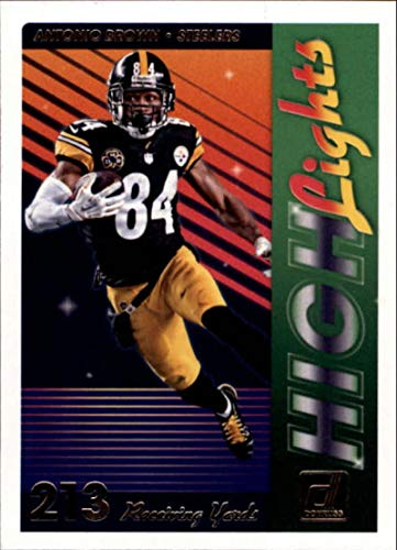 2018 Donruss Highlights #8 Antonio Brown Steelers Football Card