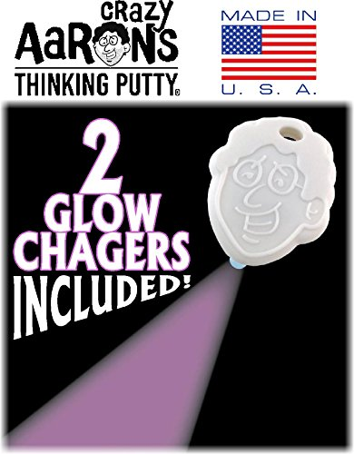 Crazy Aaron's Thinking Putty Holiday (Christmas) Tins ''Jingle'' Glow in the Dark w/Charger, ''North Star'' Cosmic Glow in the Dark w/Charger & Exclusive Storage Bag - 2 Pack by Crazy Aaron's (Image #3)