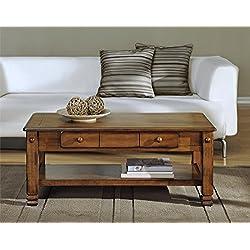 Altra Summit Mountain Wood Veneer Coffee Table, Tuscany Oak