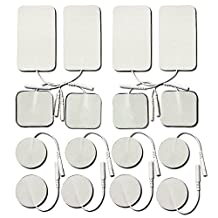 TENS Electrodes Replacement Pads- Small & Large Size 16-Pack, Self Adhesive Reusable Electrodes for TENS / EMS / Electrotherapy …