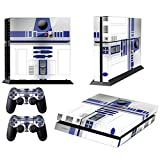 Vanknight Vinyl Decal Skin Sticker Cute R2D2 Robot Droid for PS4 Playstaion 4 Controllers Star Wars Review