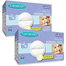 Lansinoh Nursing Pads, 2 Packs of 100 (200 Count) Stay Dry Disposable Breast...
