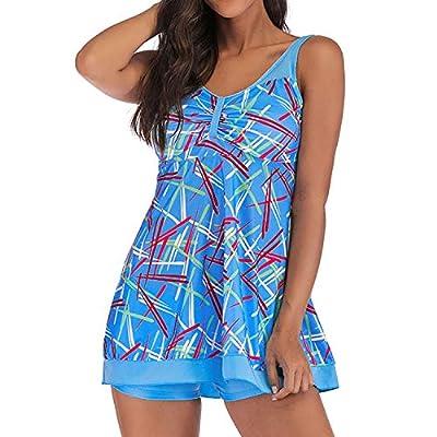be-my-guest Printed Swimdress with Shorts Swimwear Tankini Sets Swimsuit