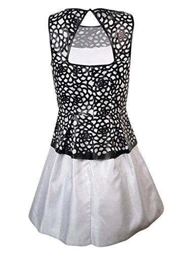 Jessica Simpson Womens Faux Leather Flare Dress (4, Black)