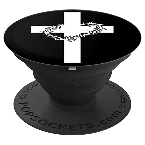 Amazon Cross Of Christ With Crown Of Thorns Black And White