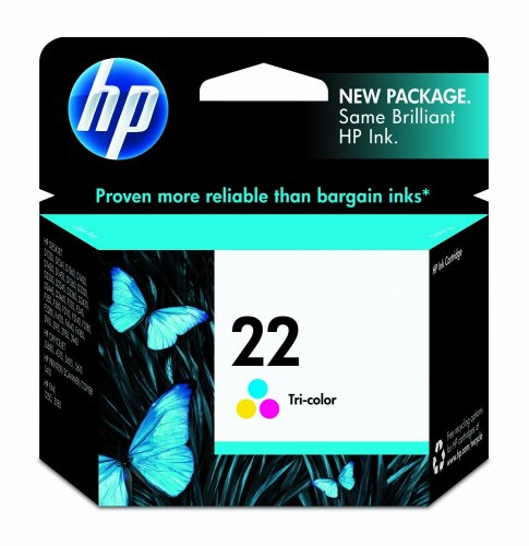 HP 22 C9352AN#140 Tri-Color Ink Cartridge in Retail Packaging, Office Central