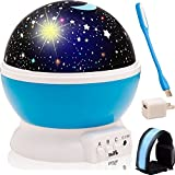 Star Light Projector - Night Lights for Kids - Ultra Bright LED with Multiple Color for Magical and Unforgettable Moments - Free Gifts - Safety LED Armband & Flexible USB LED by BENK