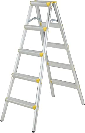 D Escaleras Extensibles Escalera Plegable Escalera De Cinco Escalones Aleación De Aluminio Una Escalera Pequeña Escalera Taburete De Caballo (Tamaño : 5): Amazon.es: Hogar