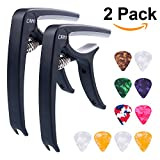 #6: Guitar Capo Accessories with 10 Free Picks for Ukulele and Acoustic Guitars, 2 Pack