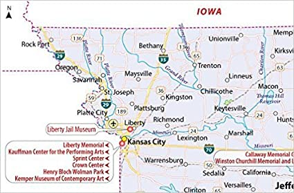 Amazon Com Missouri Map 36 W X 23 55 H Office Products