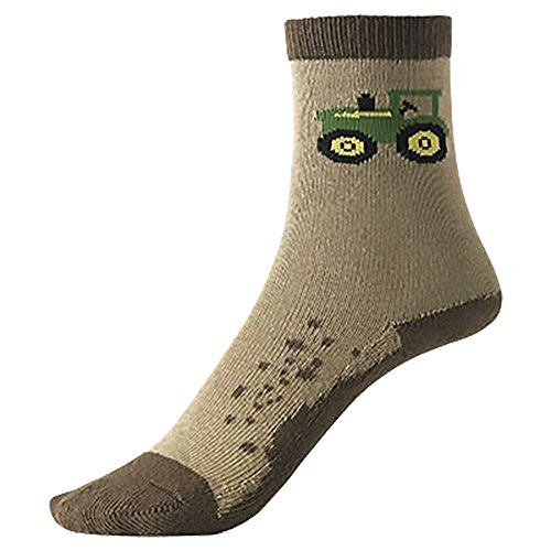 John Deere Socks Boys Dirt Crew Size 3-10