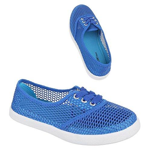 Ital-Design - Mocasines de Material Sintético para mujer Azul - azul