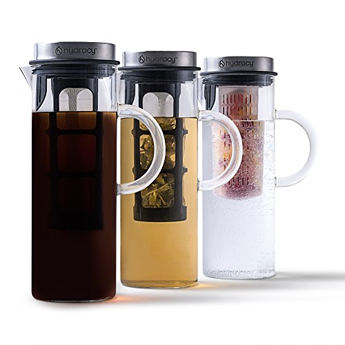 -[ Cold Brew Coffee Maker - Large Glass Infusion Pitcher 1500ml - Iced Coffee & Iced Tea Pitche