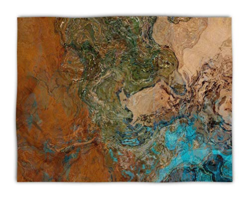 Canyon Sofa Sets - Fleece Blanket Throw in turquoise and copper, 50x60 or 60x80, Canyon Sunset